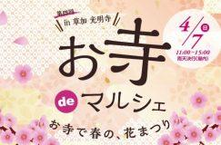 4/7第4回お寺deマルシェin草加光明寺開催のお知らせ