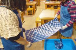 資料館体験講座「藍染め(型紙づくり・型染め)」8月24日・31日